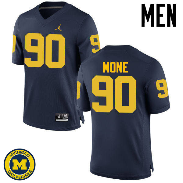 Men Michigan Wolverines #90 Bryan Mone College Football Jerseys Sale-Navy