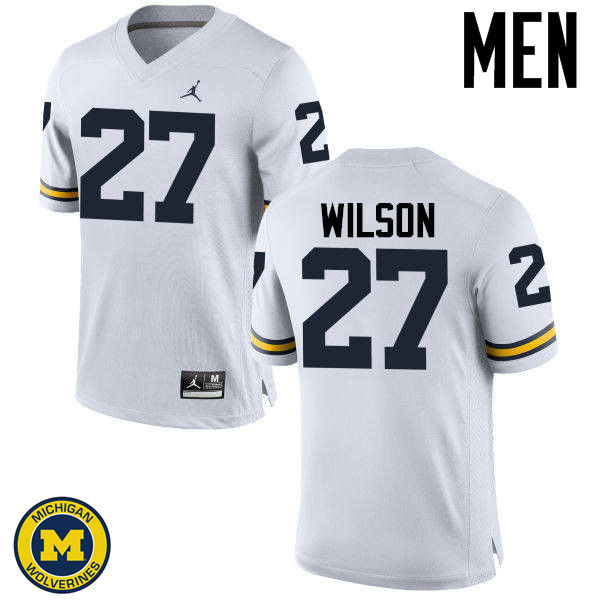 Men Michigan Wolverines #27 Tru Wilson College Football Jerseys Sale-White
