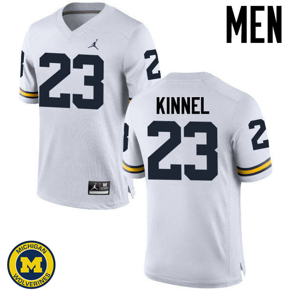 Men Michigan Wolverines #23 Tyree Kinnel College Football Jerseys Sale-White